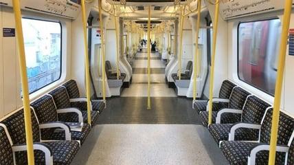 Underground carriage empty - BBC News image