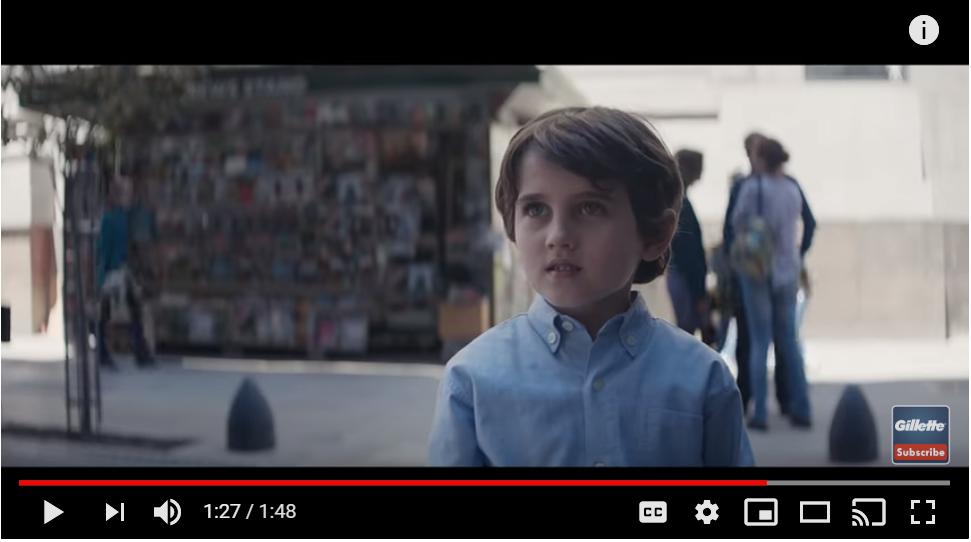 Screenshot form Gillete ad